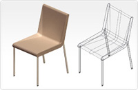 Boomerang chair_beige