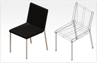 Boomerang chair_black
