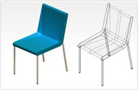 Boomerang chair_blue